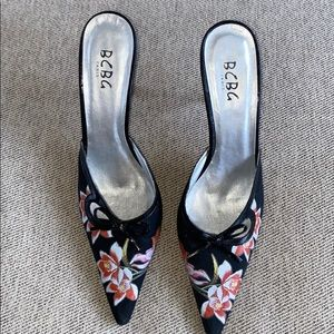 Beautiful high heel mules, size 10